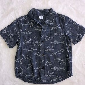 Old navy chambray shirt sleeve button down 2T